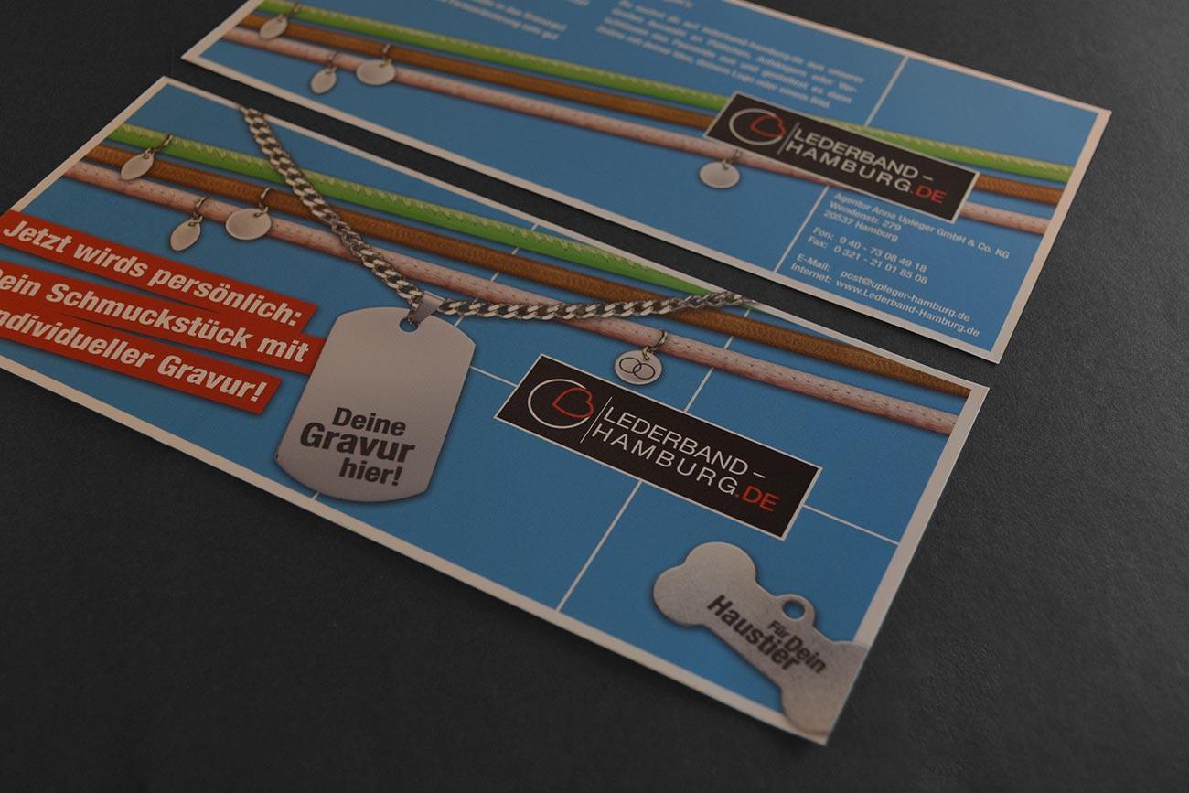 Flyer zur Einführung des GRavurservice