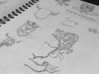 Skizzen für einen Logoentwurf